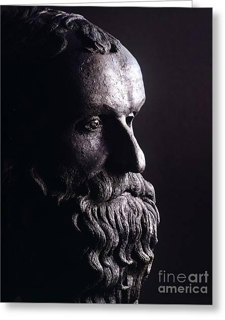 Head Of A Philosopher Greeting Card