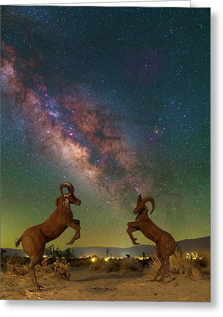 Head To Head With The Galaxy Greeting Card