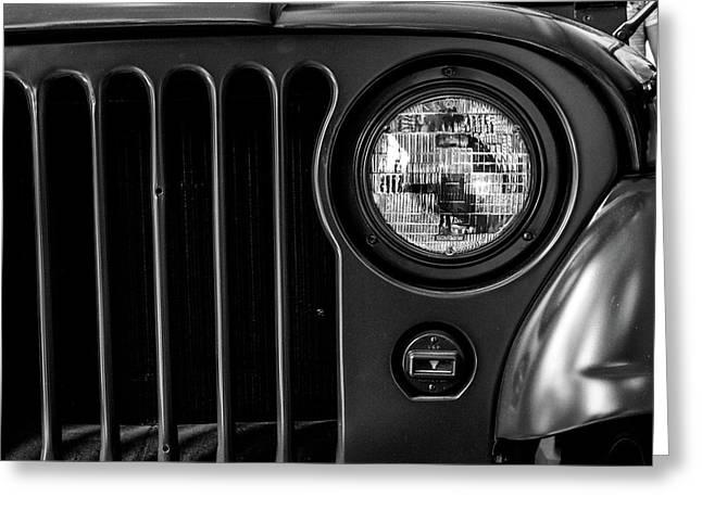 Headlight, Jeep Greeting Card