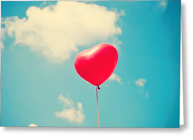 Heart Balloon Greeting Card by Andrekart Photography