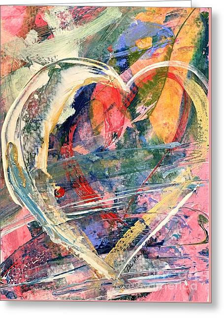 Greeting Card featuring the painting Heart Full Of Love by Robin Maria Pedrero