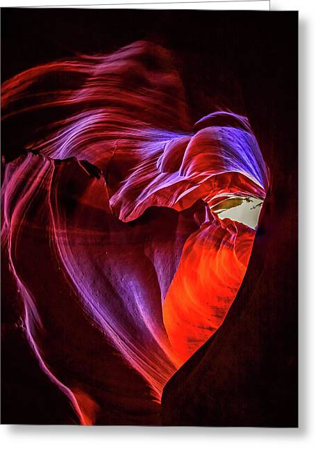 Heart Of Antelope Canyon Greeting Card