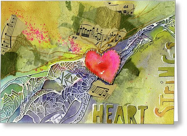 Heart Strings Greeting Card