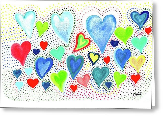 Hearts 1002 Greeting Card