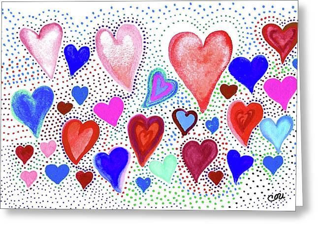 Hearts 1003 Greeting Card