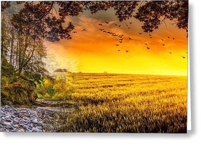 Heaven's Morning Glow Greeting Card