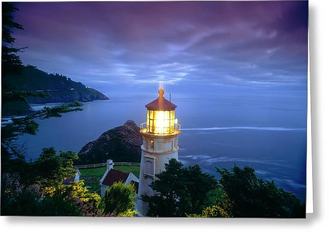 Heceta Head Lighthouse, Oregon Coast Greeting Card