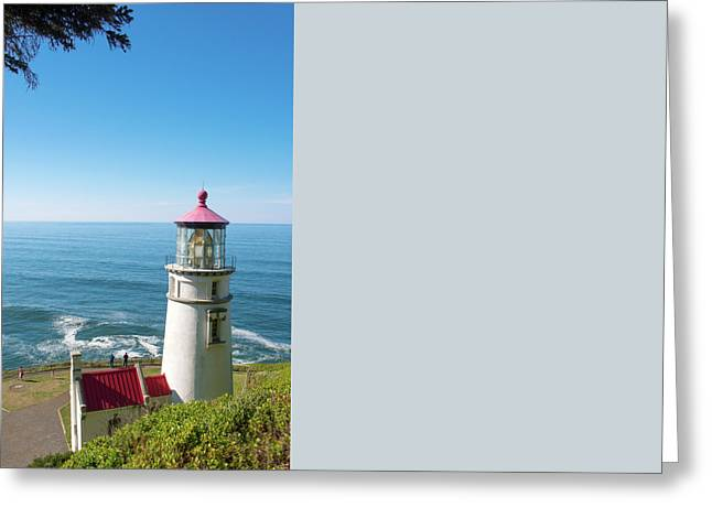 Greeting Card featuring the photograph Heceta Head Lighthouse Oregon by Rospotte Photography