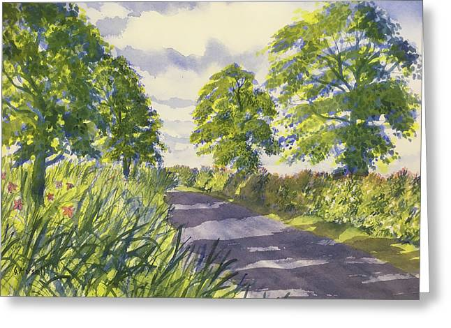 Hedgerows On Rudston Road Greeting Card
