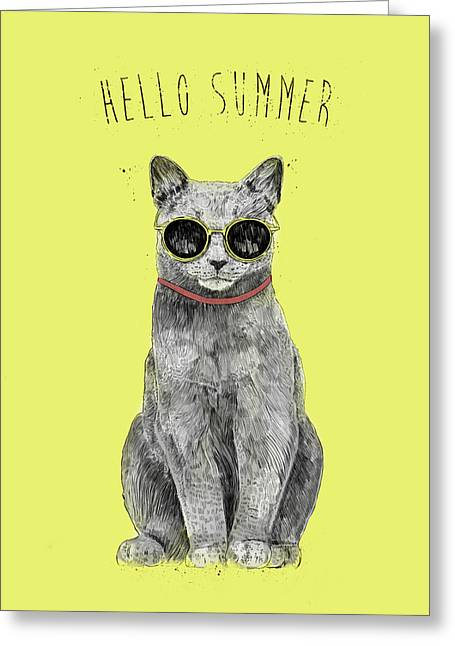Hello Summer  Greeting Card