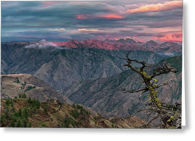 Hells Canyon Sunset 2 Greeting Card by Leland D Howard
