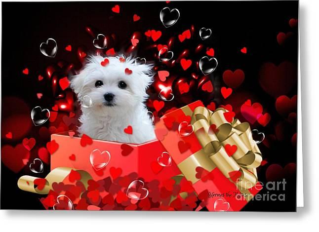 Hermes The Valentine Boy Greeting Card