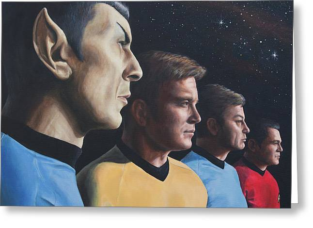 Heroes Of The Final Frontier Greeting Card