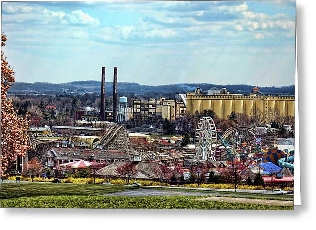 Greeting Card featuring the photograph Hershey Pa 2006 by Mark Jordan