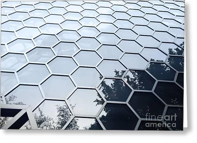 Hexagonal Building Facade Greeting Card