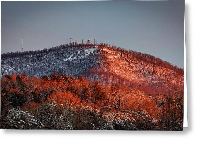 Hibriten Mountain - Lenoir, North Carolina Greeting Card