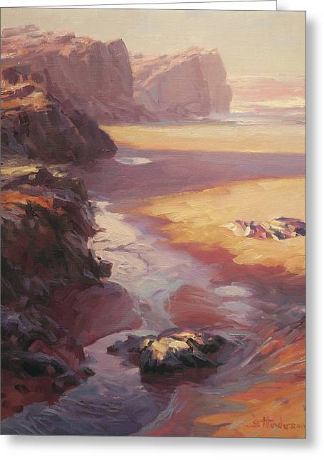 Greeting Card featuring the painting Hidden Path To The Sea by Steve Henderson
