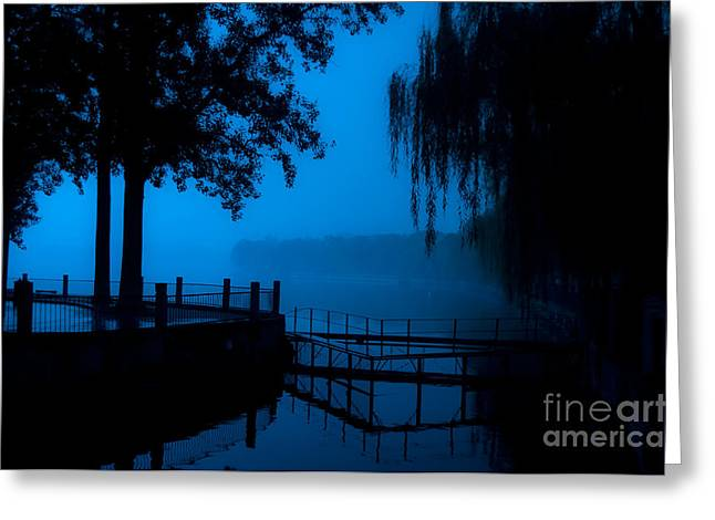 High Contrast, Beijing Deserted Lake At Greeting Card