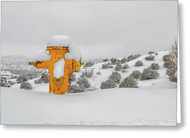 High Desert Hydrant Greeting Card