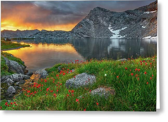 High Mountain Morning In Idaho Greeting Card by Leland D Howard