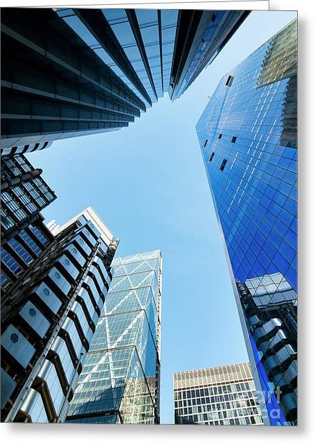 High Rise Greeting Card by Tim Gainey