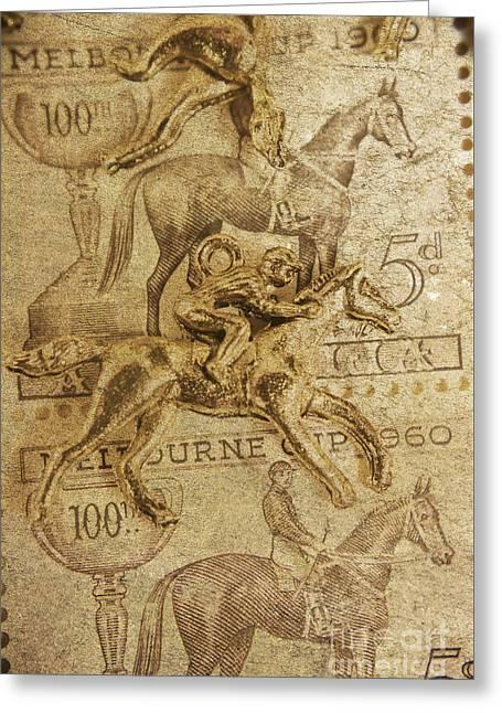 Historic Horse Racing Greeting Card