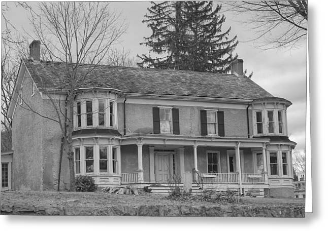 Historic Mansion With Towers - Waterloo Village Greeting Card
