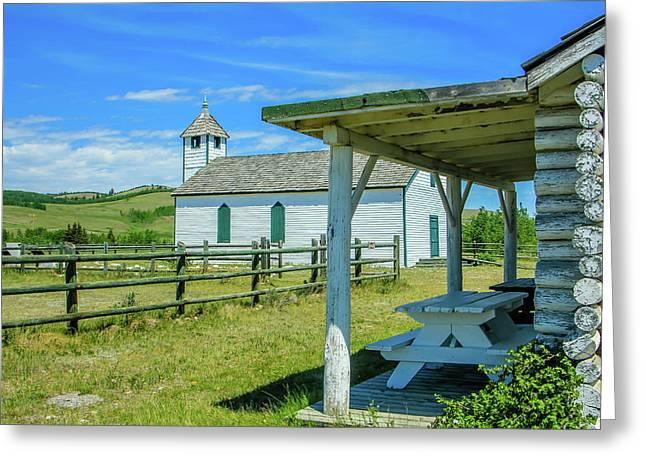 Historic Mcdougall Church, Morley, Alberta, Canada Greeting Card