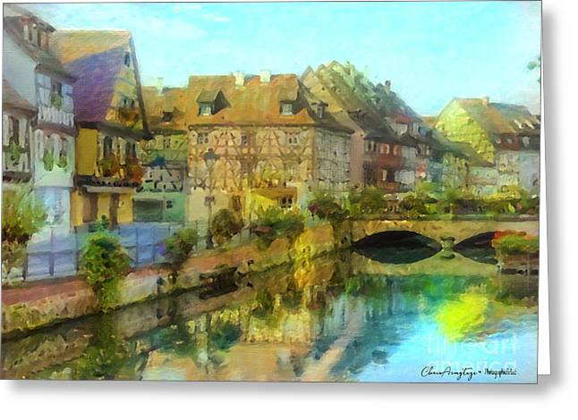 Historic Village On The Rhine Greeting Card