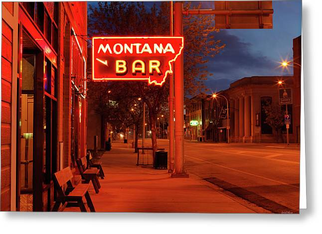 Historical Montana Bar Greeting Card