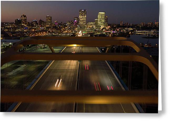 Greeting Card featuring the photograph Hoan View by Randy Scherkenbach