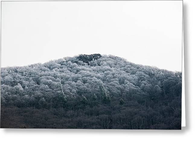 Hoarfrost On The Mountain Greeting Card