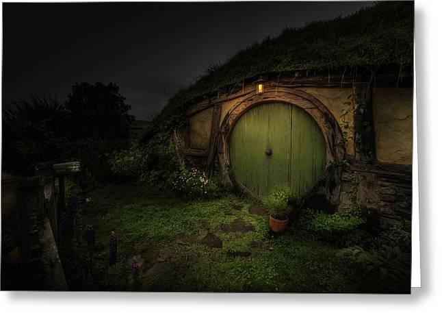 Hobbiton At Night #1 Greeting Card