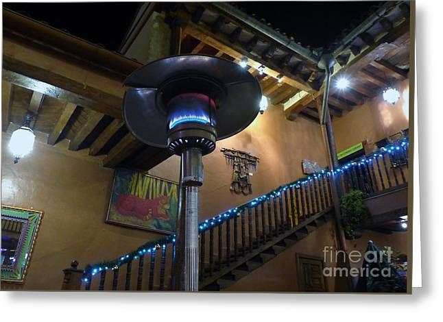 Greeting Card featuring the photograph Holiday Dining In Patzcuaro by Rosanne Licciardi