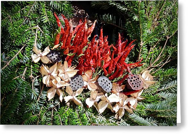 Holiday Peppers Greeting Card