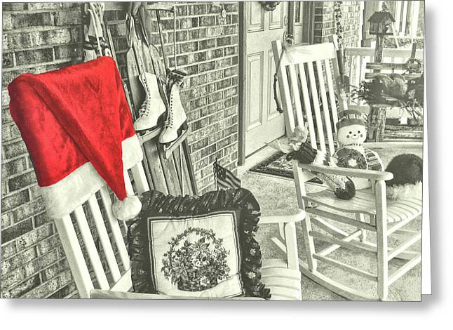 Holiday Porch Greeting Card by JAMART Photography