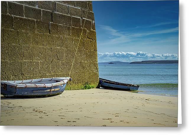 Holidays In St Ives Cornwall Greeting Card