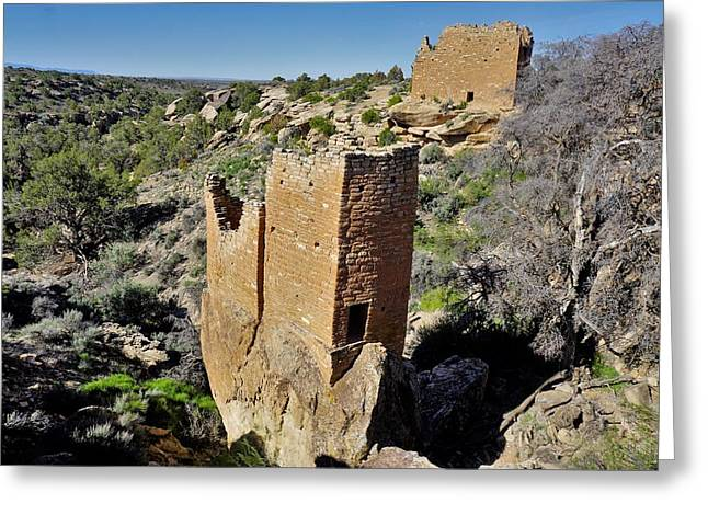 Holly Tower At Hovenweep Greeting Card