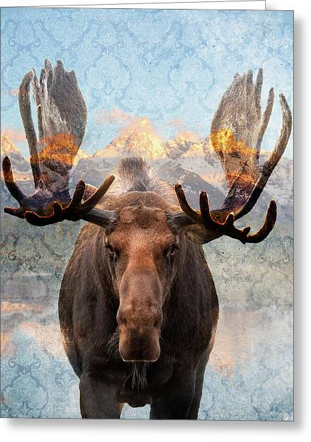 Hometown Moose Greeting Card