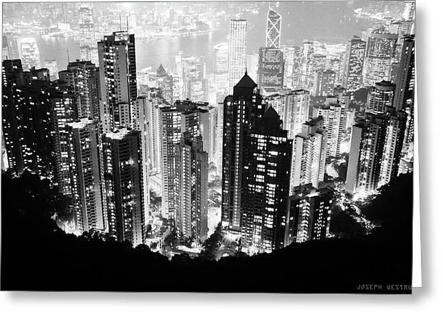 Hong Kong Nightscape Greeting Card