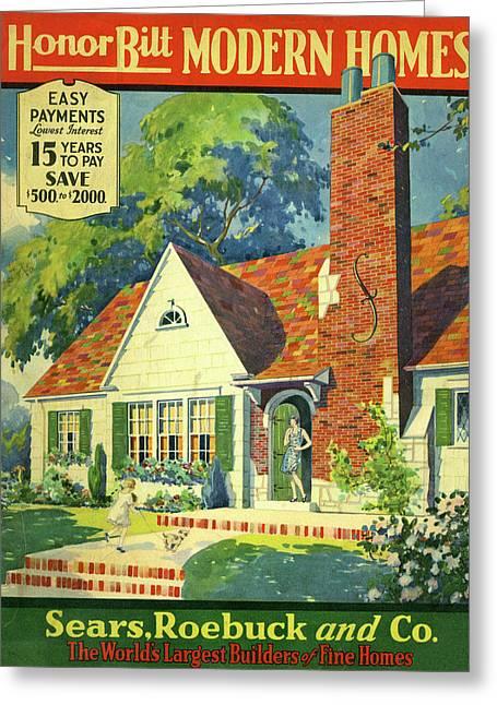 Honor Bilt Modern Homes Sears Roebuck And Co 1930 Greeting Card
