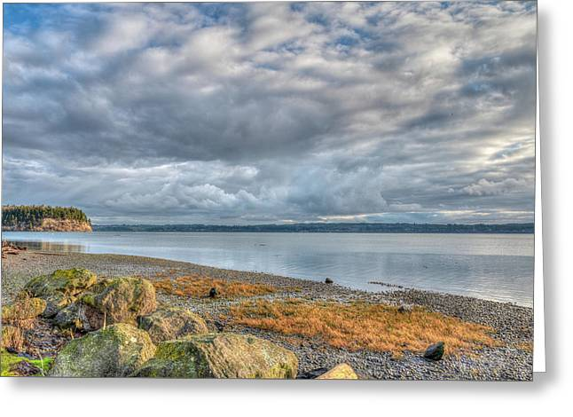 Hood Canal View Greeting Card