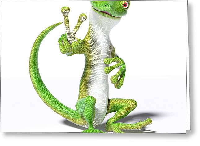 Hoping For Peace Gecko Greeting Card