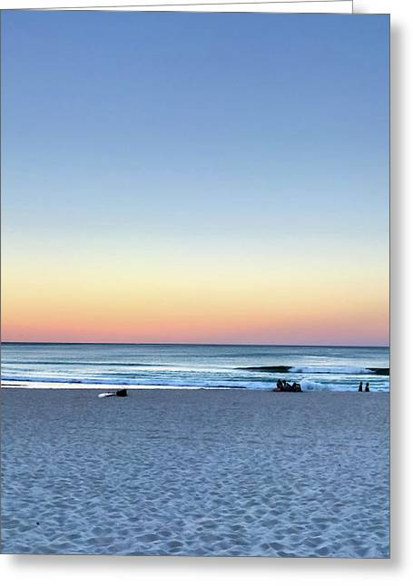 Horizon Over Water Greeting Card