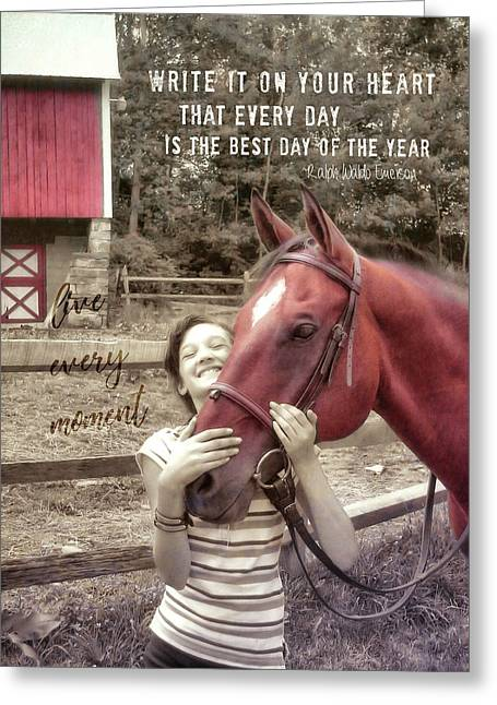 Horse Crazy Quote Greeting Card by JAMART Photography