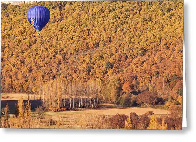 Hot Air Balloon, Beynac, France Greeting Card