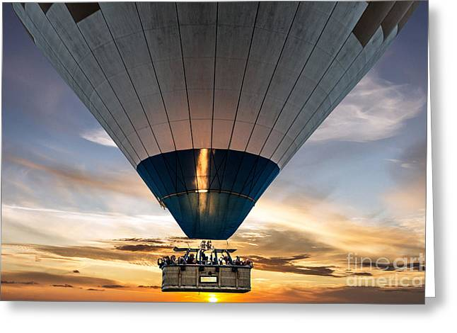Hot Air Balloon In The Sky Greeting Card
