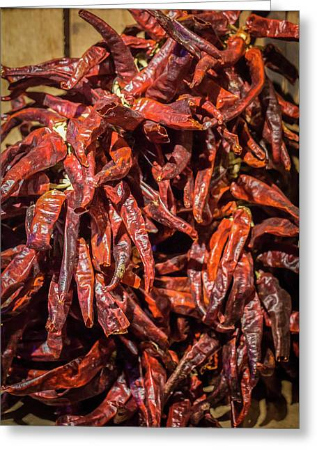 Hot Spicy Peppers Greeting Card