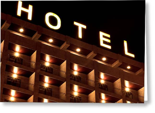 Hotel Sign Greeting Card