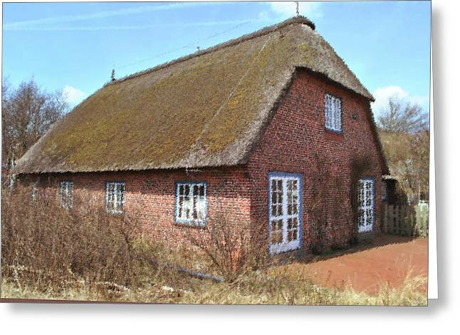 House With Thatched Roof Greeting Card